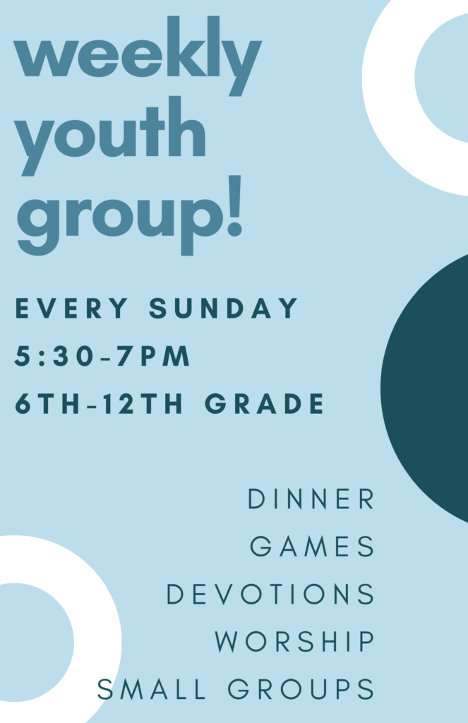 UPDATED Youth Group Flyer